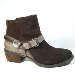 Vince Camuto Ankle Suede Leather Boots Sz 7